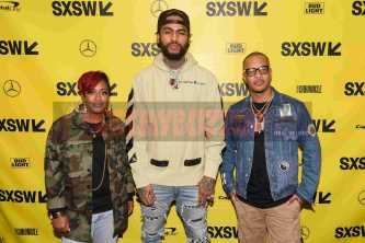 """AUSTIN, TX - MARCH 17: Rapsody, Dave East and T.I. attend the red carpet premiere of """"Rapture"""" during SXSW 2018 at Paramount Theatre on March 17, 2018 in Austin, Texas. (Photo by Daniel Boczarski/Getty Images for Netflix) *** Local Caption *** Rapsody;Dave East;T.I."""