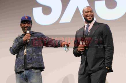 """AUSTIN, TX - MARCH 17: Sacha Jenkins and Marcus A. Clarke introduce the premiere of """"Rapture"""" during SXSW 2018 at Paramount Theatre on March 17, 2018 in Austin, Texas. (Photo by Daniel Boczarski/Getty Images for Netflix) *** Local Caption *** Sacha Jenkins;Marcus A. Clarke"""