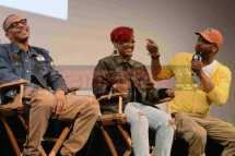 """AUSTIN, TX - MARCH 17: T.I., Rapsody and Just Blaze attend a Q&A following the premiere of """"Rapture"""" during SXSW 2018 on March 17, 2018 in Austin, Texas. (Photo by Daniel Boczarski/Getty Images for Netflix) *** Local Caption *** T.I.;Rapsody;Just Blaze"""
