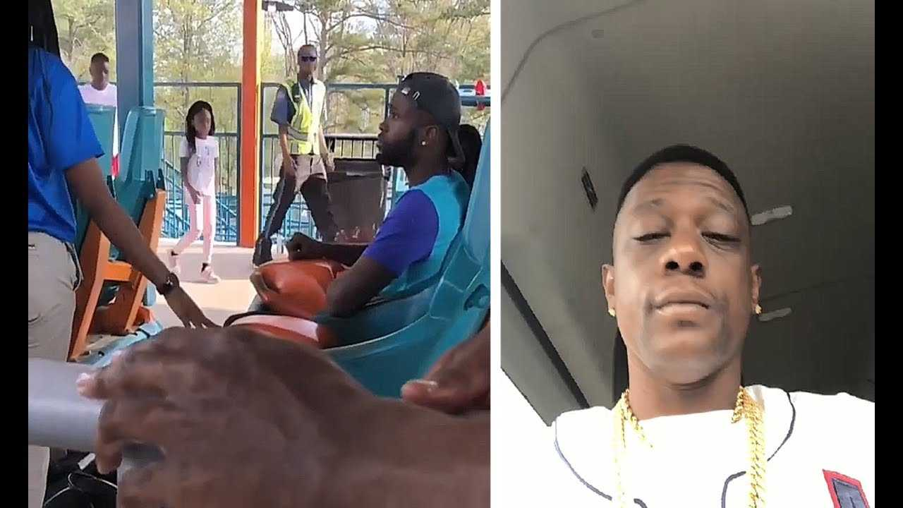Boosie Escorted Away After He GOES OFF On Employee At Six Flags