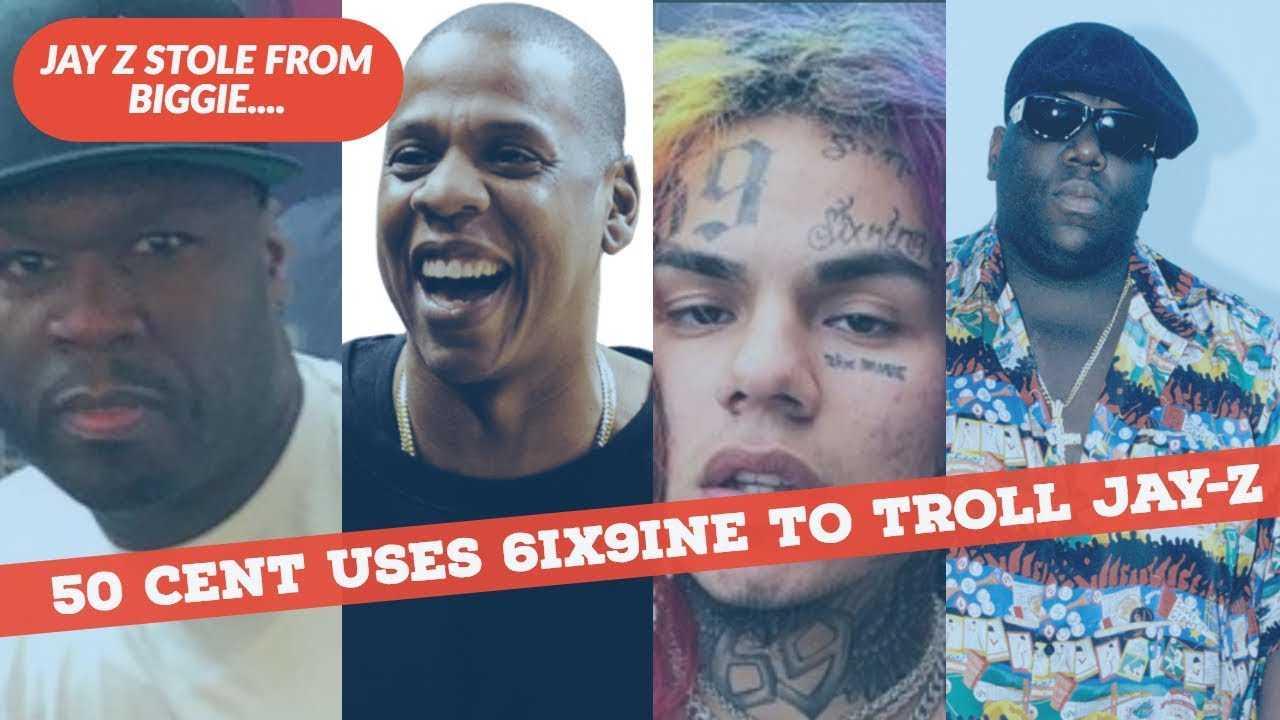 50 Cent TROLLS Jay Z by using 6IX9INE saying Jay-Z Took Lines from Biggie