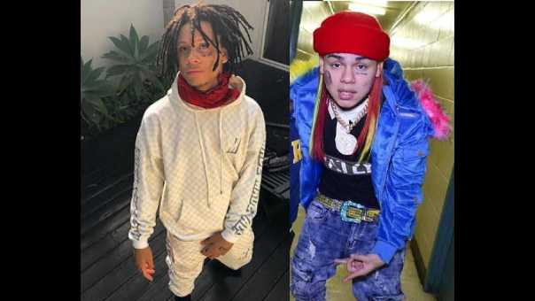Trippie Redd pulls up to 6ix9ine Instagram live to get the facts straight about why they beefing!