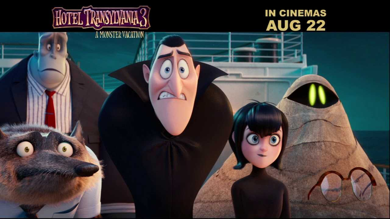 Drac takes a break from working to the bone in Hotel Transylvania 3: A Monster Vacation