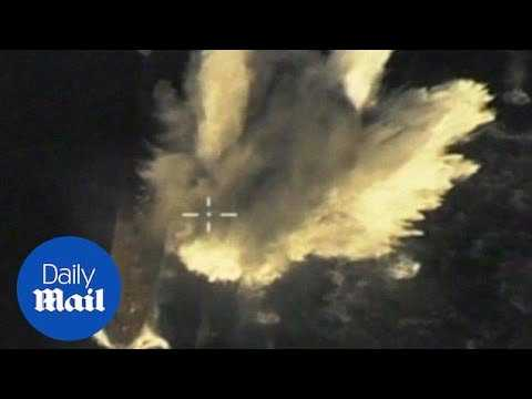 Footage from Russia Defence Ministry shows faked cruise missile attack - Daily Mail