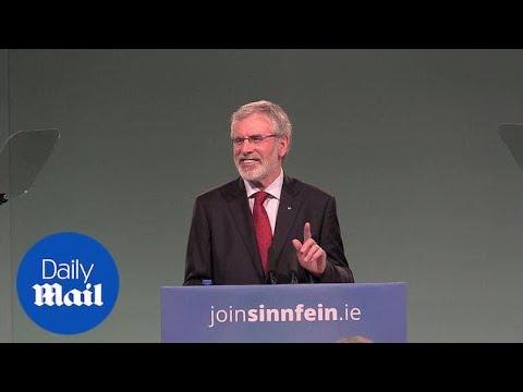 Gerry Adams announces he is stepping down as Sinn Fein president - Daily Mail