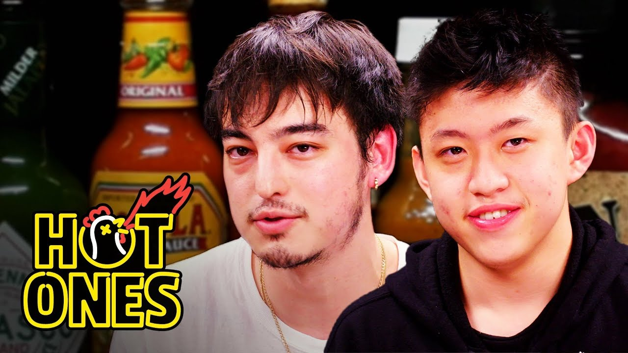 Joji and Rich Brian Play the Newlywed Game While Eating Spicy Wings | Hot Ones