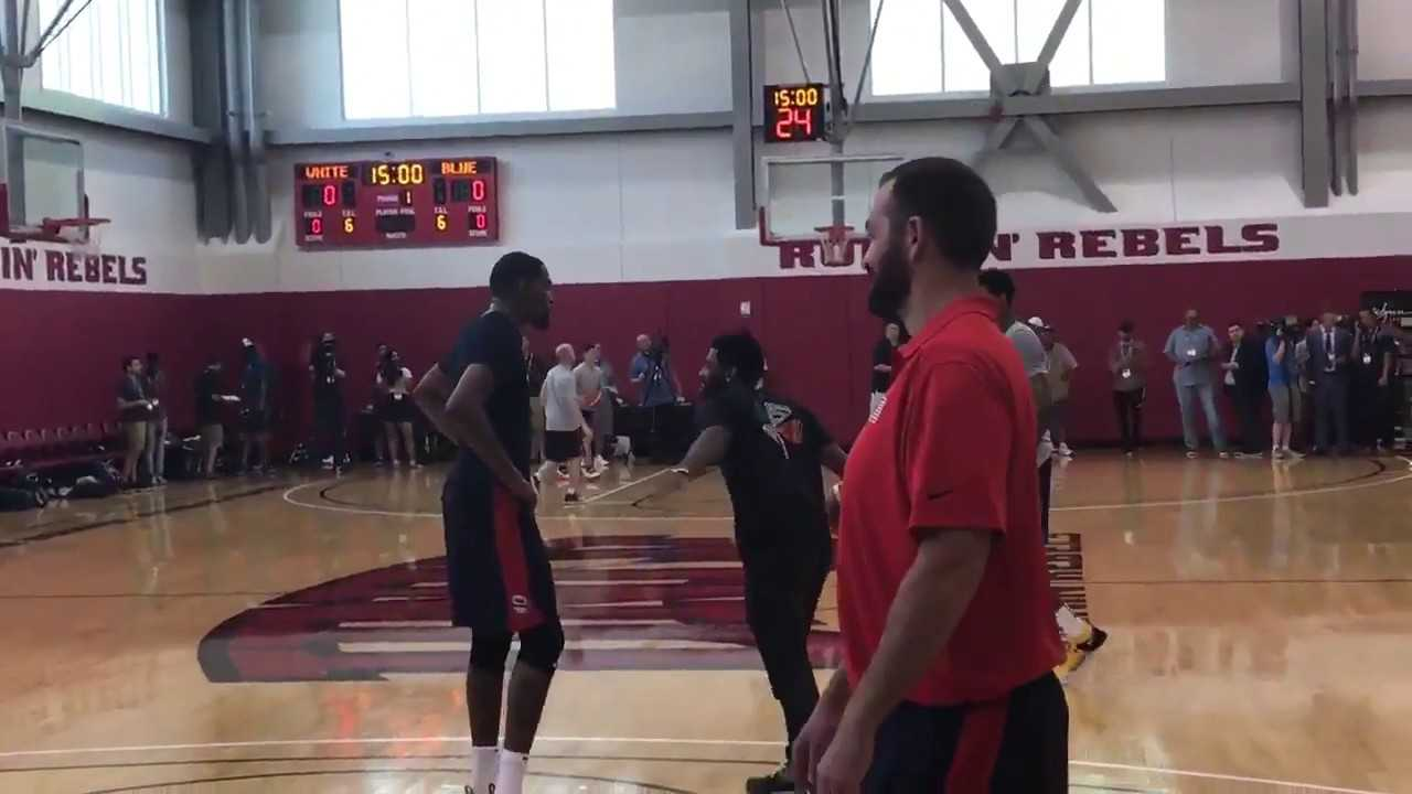 Kyrie Irving hilarious reaction to Kevin Durant not doing his drills