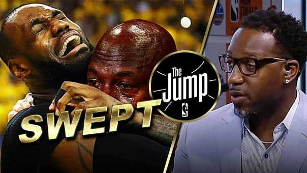 LeBron James Didn't Get a Pass From T-Mac For Getting Swept | The Jump
