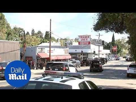 Los Angeles police outside Trader Joe's amid reports of shooting - Daily Mail