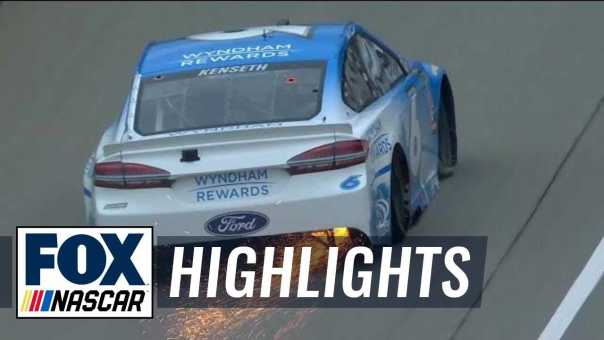 Matt Kenseth spins out late in Stage 1 | 2018 MICHIGAN | FOX NASCAR