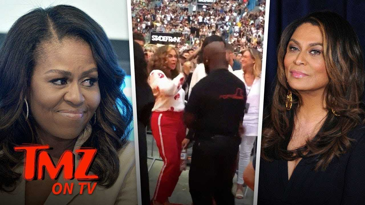 Michelle Obama Crazy Dancing At Beyonce Concert! | TMZ TV