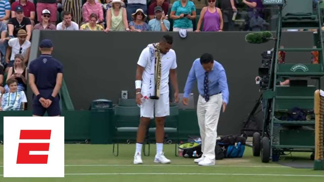 Nick Kyrgios gets lesson on foot faults from Wimbledon judge [Highlights, analysis, presser]  | ESPN