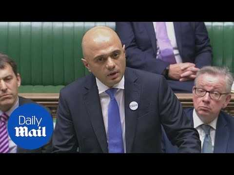 Savid Javid updates Parliament on Amesbury Novichok poisoning - Daily Mail