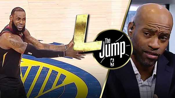Vince Carter On LeBron's Failure To Win Even 1 Game Against Warriors | The Jump