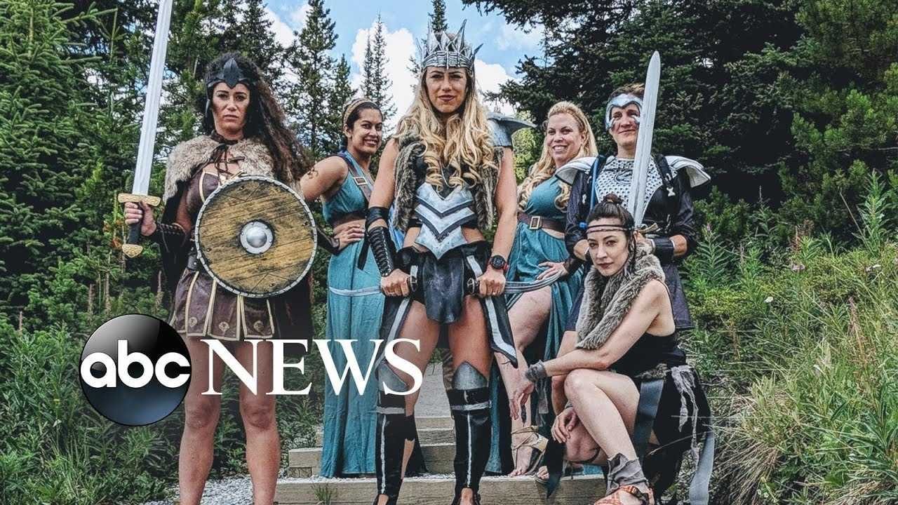 Check out this epic warrior-themed bachelorette party
