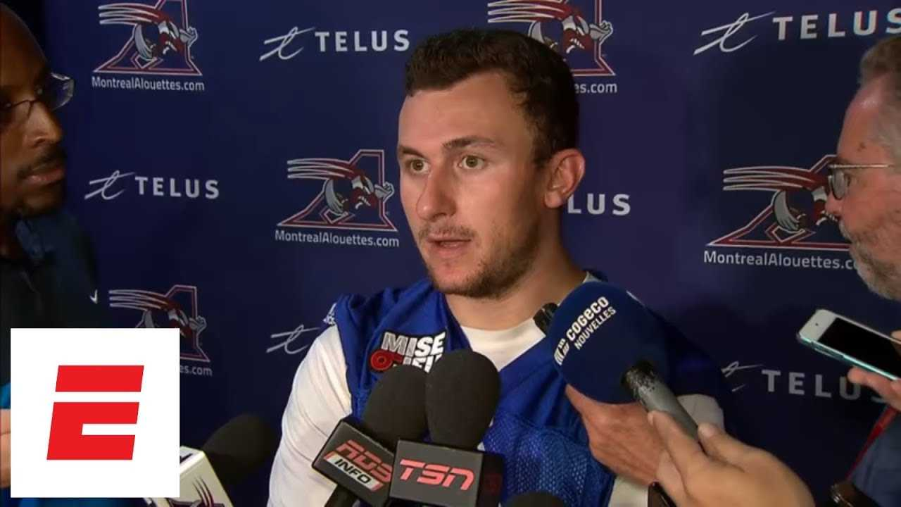 [FULL] Johnny Manziel press conference before first career CFL start | ESPN