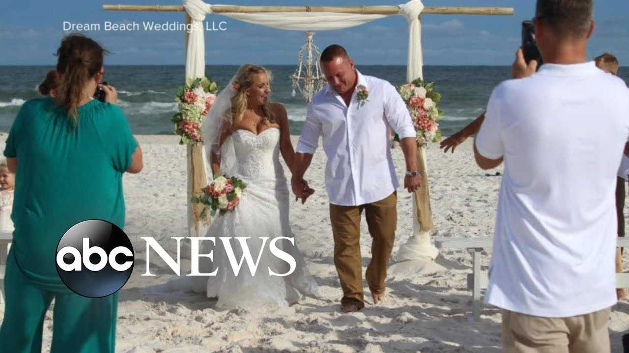 Groom marries on the beach and then rescues stranded swimmer
