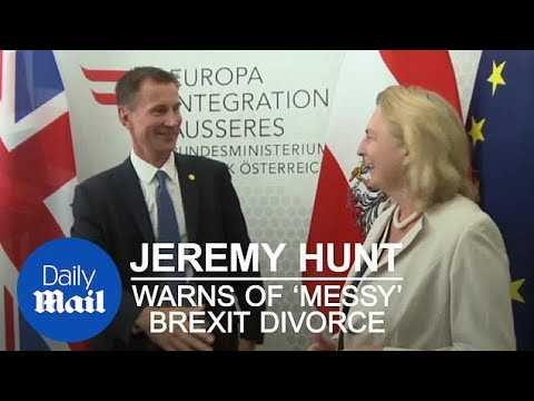 Jeremy Hunt warns of 'messy divorce' if Brexit talks break down - Daily Mail
