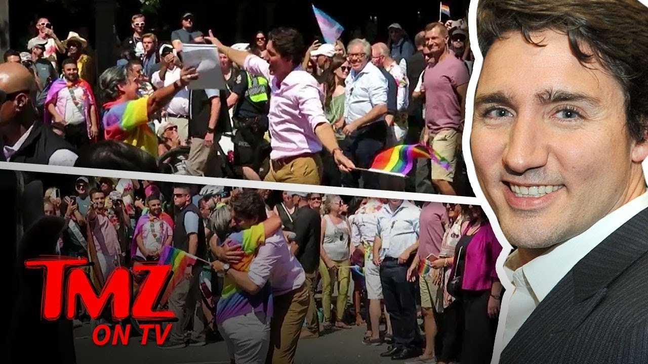Justin Trudeau Having a Ball at Pride Parade in Vancouver | TMZ TV