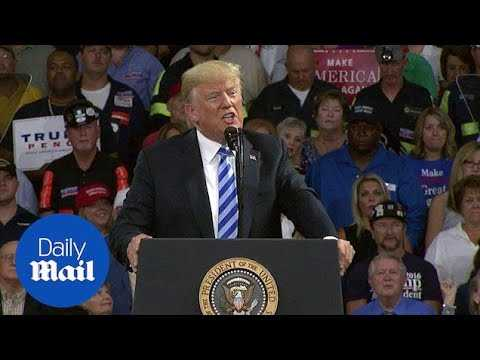 Trump avoids mentioning Michael Cohen and Paul Manafort at rally