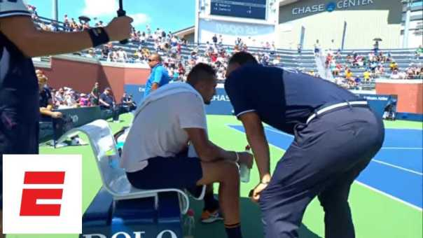 2018 US Open analysis: Nick Kyrgios gets pep talk from umpire | ESPN