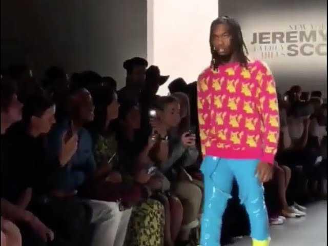 Offset Walks Jeremy Scott Runway [2018 Fashion Week]