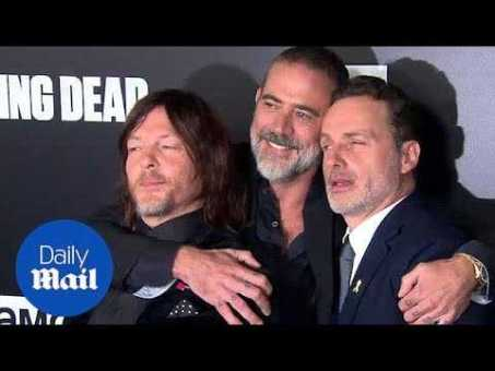 Andrew Lincoln, Norman Reedus and Jeffrey Dean Morgan at Walking Dead Season 9 premiere