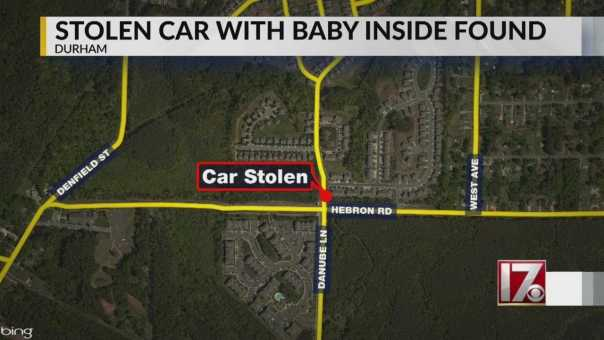 Baby rescued after it was inside car stolen in Durham, police say