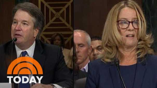 Brett Kavanaugh And Christine Blasey Ford Deliver Testimony In Senate Hearing | TODAY