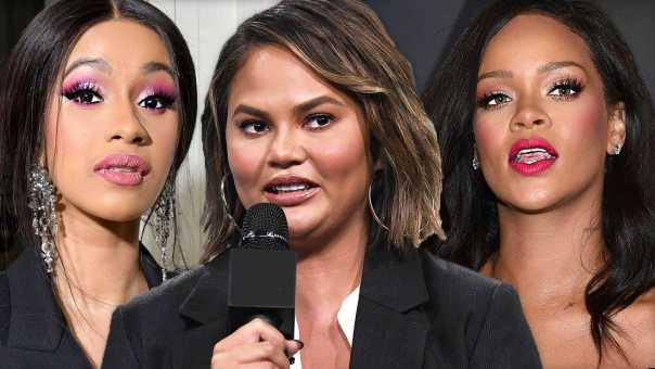 Chrissy Teigen Reacts To Cardi B & Rihanna Hook Up VIDEO | Hollywoodlife