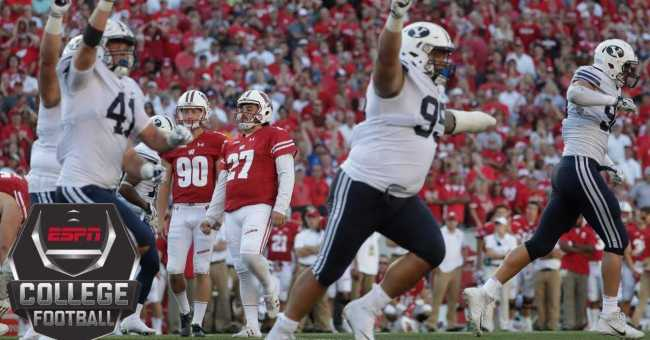 College Football Highlights Wisconsin Badgers Stunned By Byu