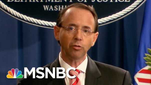 DOJ Pushes Back On Reports Of Rosenstein Talks Of Wearing A Wire In Trump | MTP Daily | MSNBC