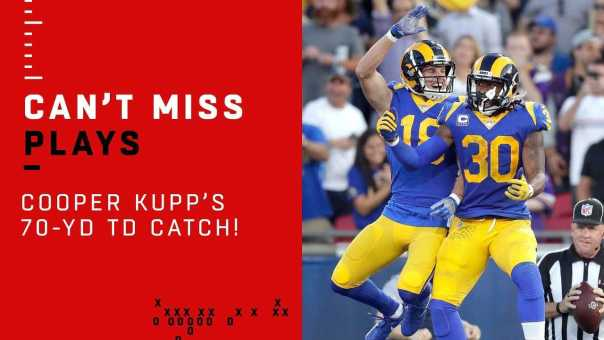 Goff Floats a Perfect 70-Yd TD Pass to Kupp!