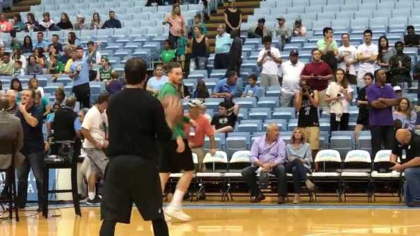 Gordon Hayward Warms Up for Preseason Opener