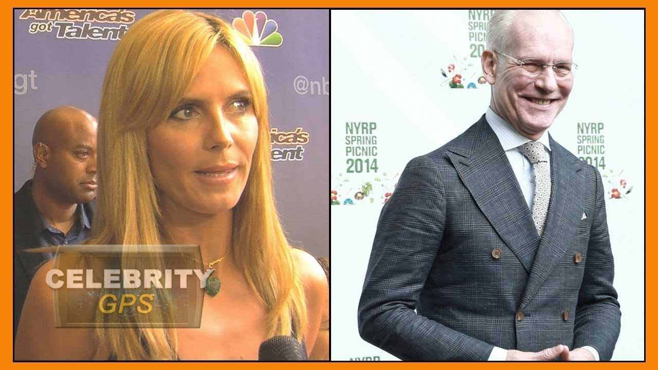 Heidi Klum and Tim Gunn leaving PROJECT RUNWAY - Hollywood TV