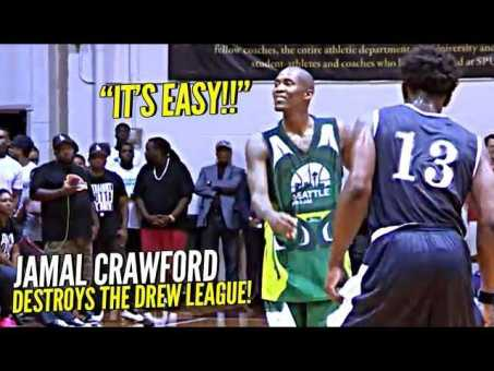 Jamal Crawford DESTROYS The Drew League Squad!! YOU CAN'T GUARD HIM!! Handle TOO NASTY