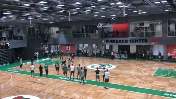 Kyrie Irving hits a Game-Winner in Celtics Scrimmage
