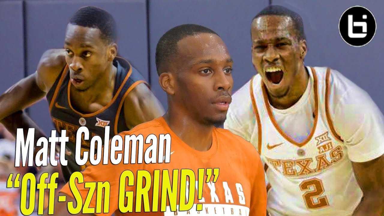 Matt Coleman OFF SEASON GRIND! Texas PG ELITE Workout!