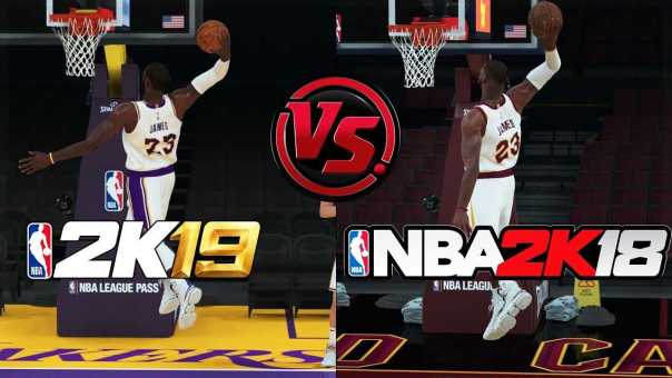 NBA 2K19 vs NBA 2K18 Lebron James Shooting/Dunking Animation Comparison