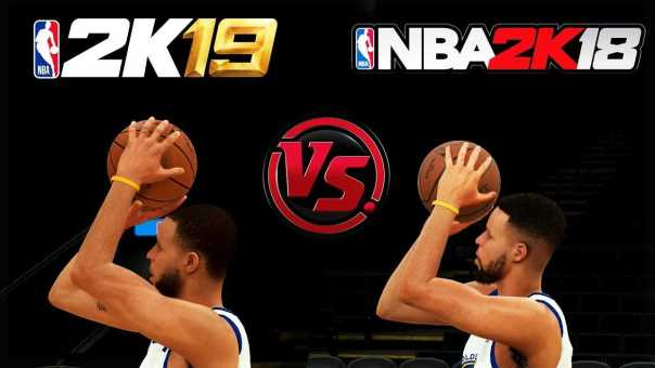 NBA 2K19 vs NBA 2K18 Stephen Curry Shooting/Layup Animation Comparison