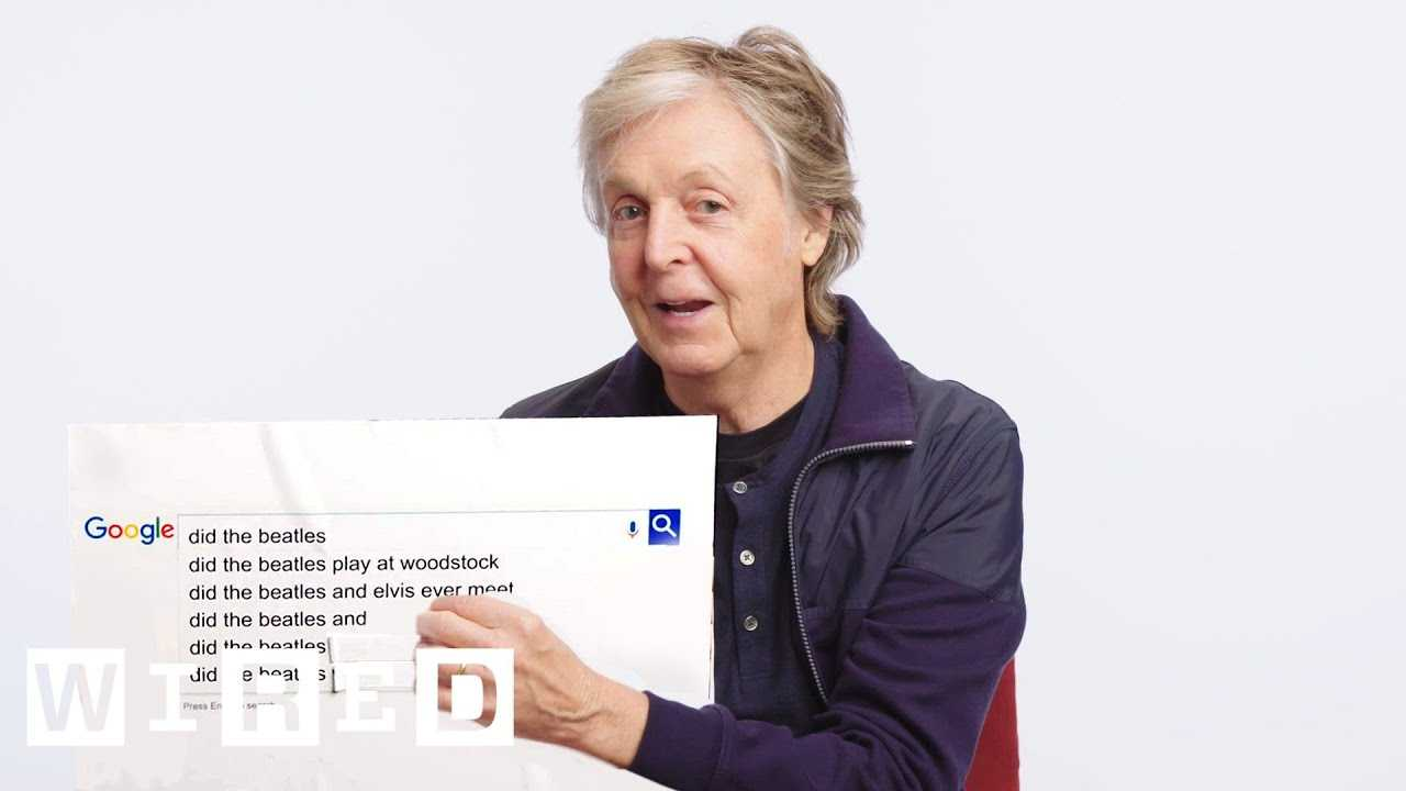 Paul McCartney Answers the Web's Most Searched Questions | WIRED