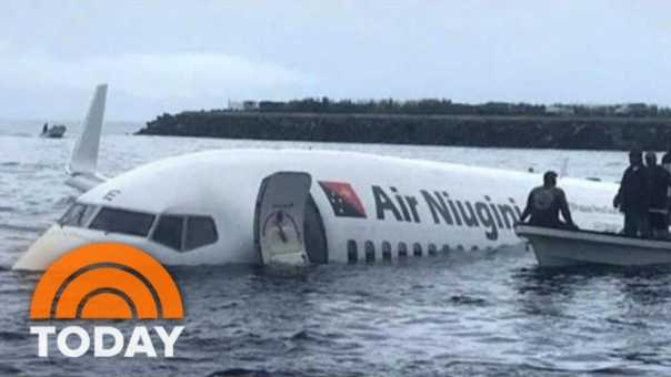 Plane Crashes Into Pacific Ocean, Makes Miracle Landing   TODAY