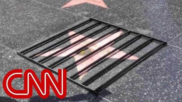 Street artist strikes again on Trump's Hollywood star
