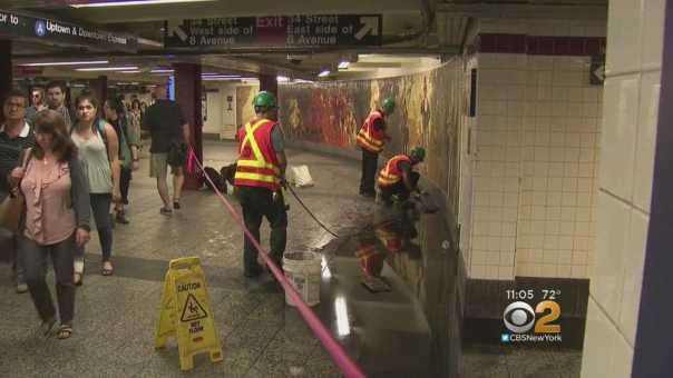 Subway Riders Fume As Stations Are Still Flooded