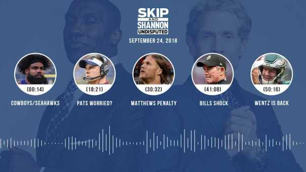 UNDISPUTED Audio Podcast (9.24.18) with Skip Bayless, Shannon Sharpe & Jenny Taft | UNDISPUTED
