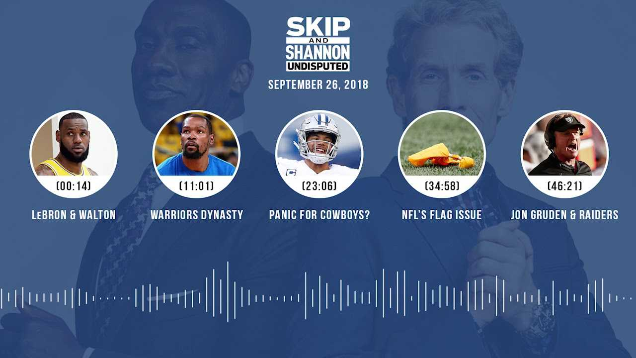 UNDISPUTED Audio Podcast (9.26.18) with Skip Bayless, Shannon Sharpe & Jenny Taft | UNDISPUTED