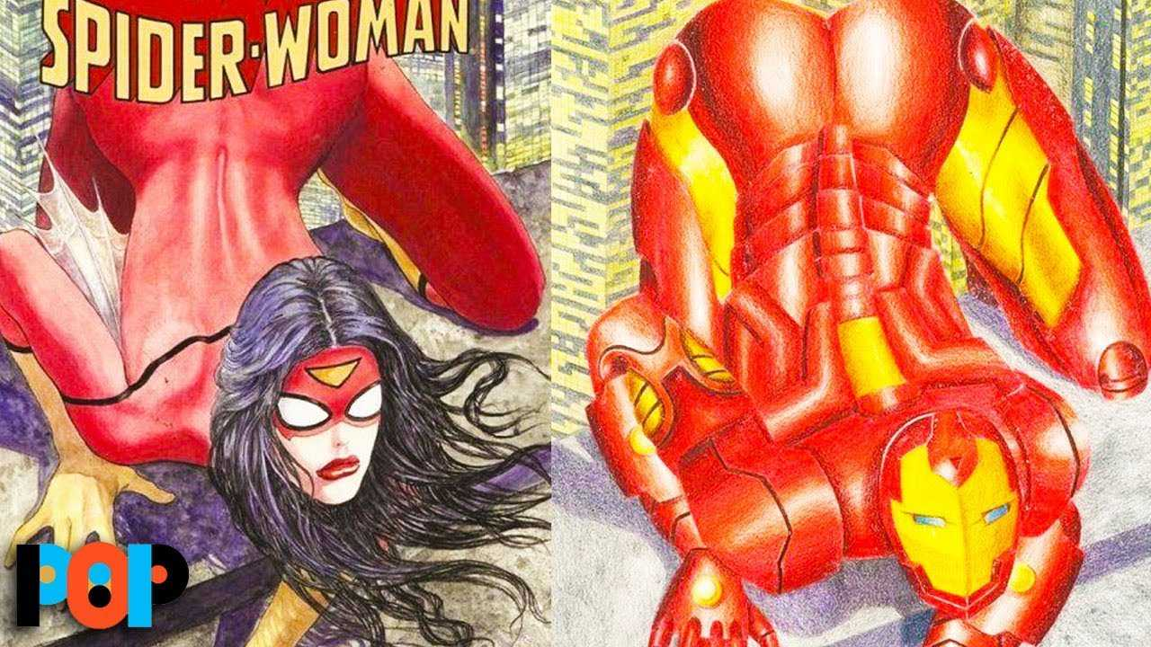 Artist Redraws Comic Book Covers To Highlight Sexist Double Standards