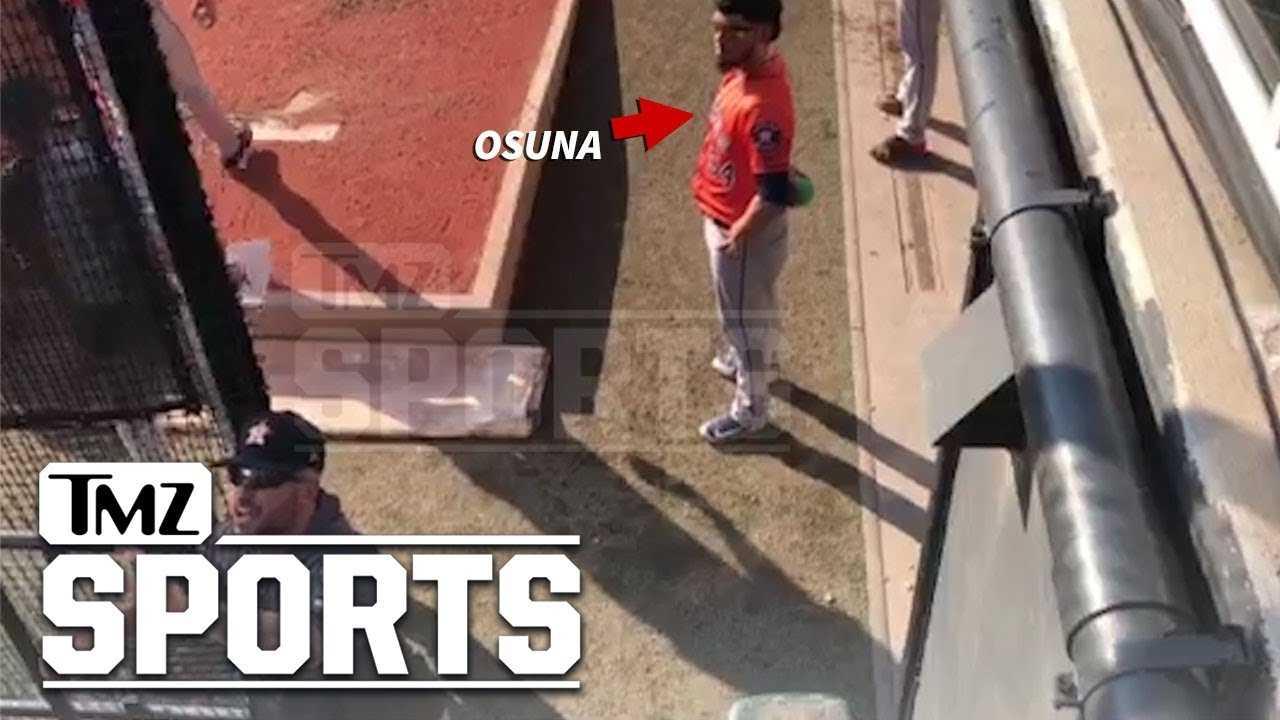 Astros' Ryan Pressly Confronts Roberto Osuna Heckler, 'You're Being a Dickhead'   TMZ Sports