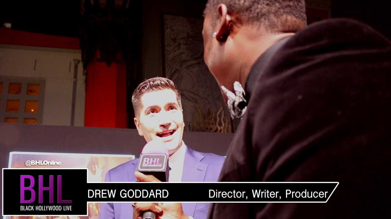 Interview with director Drew Goddard at the priemere of Bad times at the El Royale