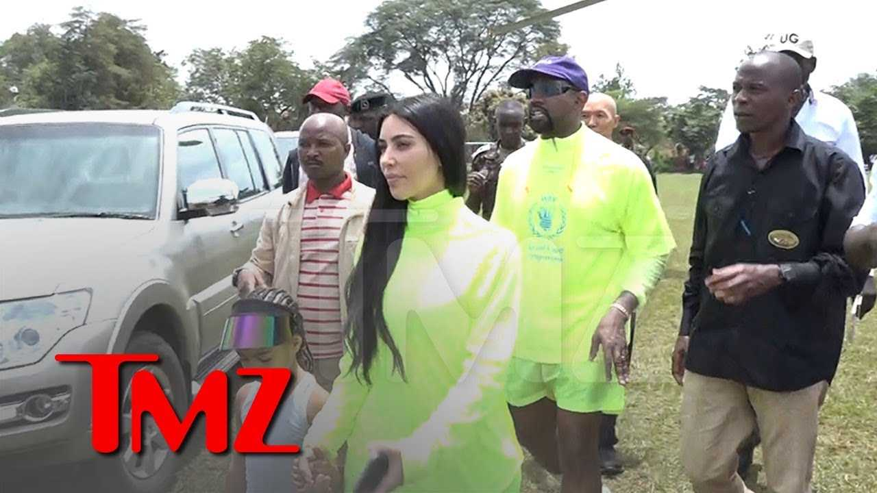 Kanye West Hands Out Dozens of Yeezys in Uganda | TMZ
